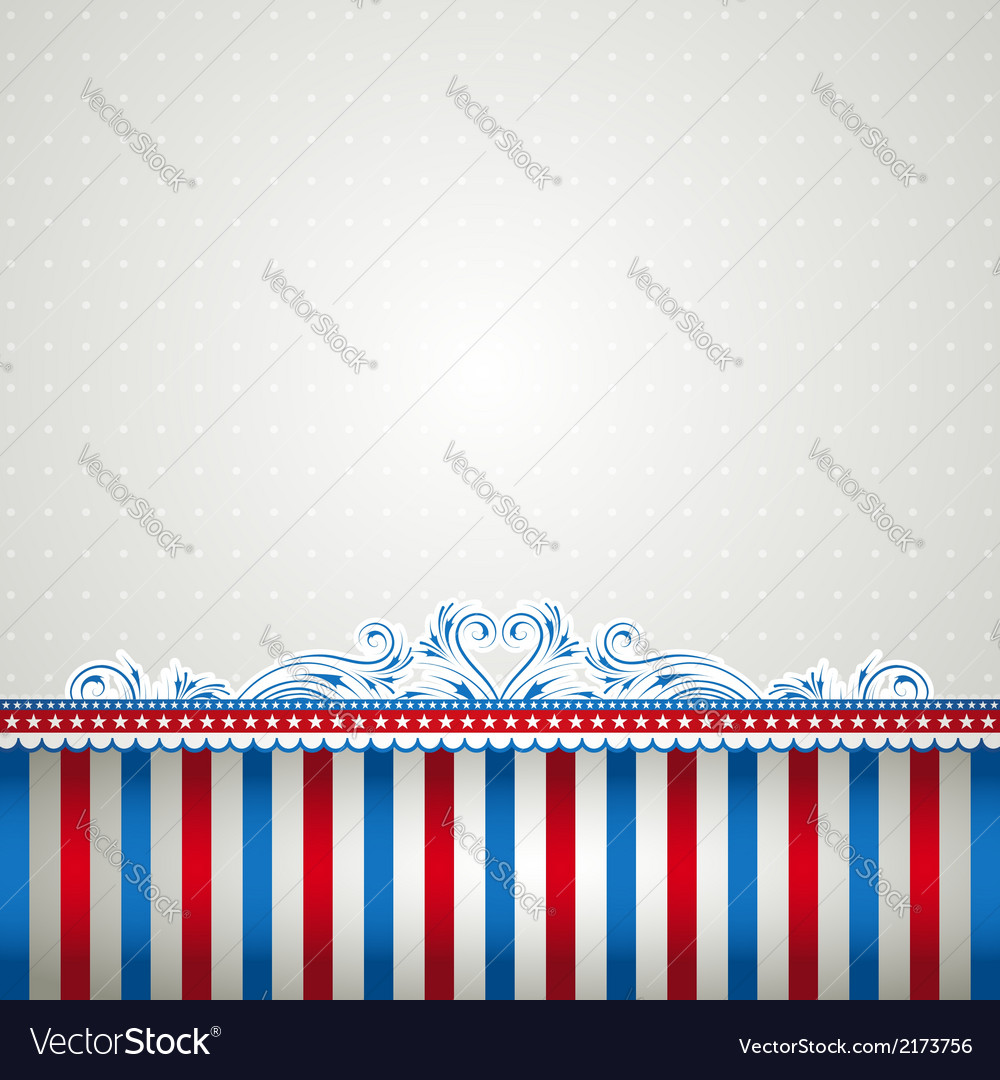 Square usa background with stars vector