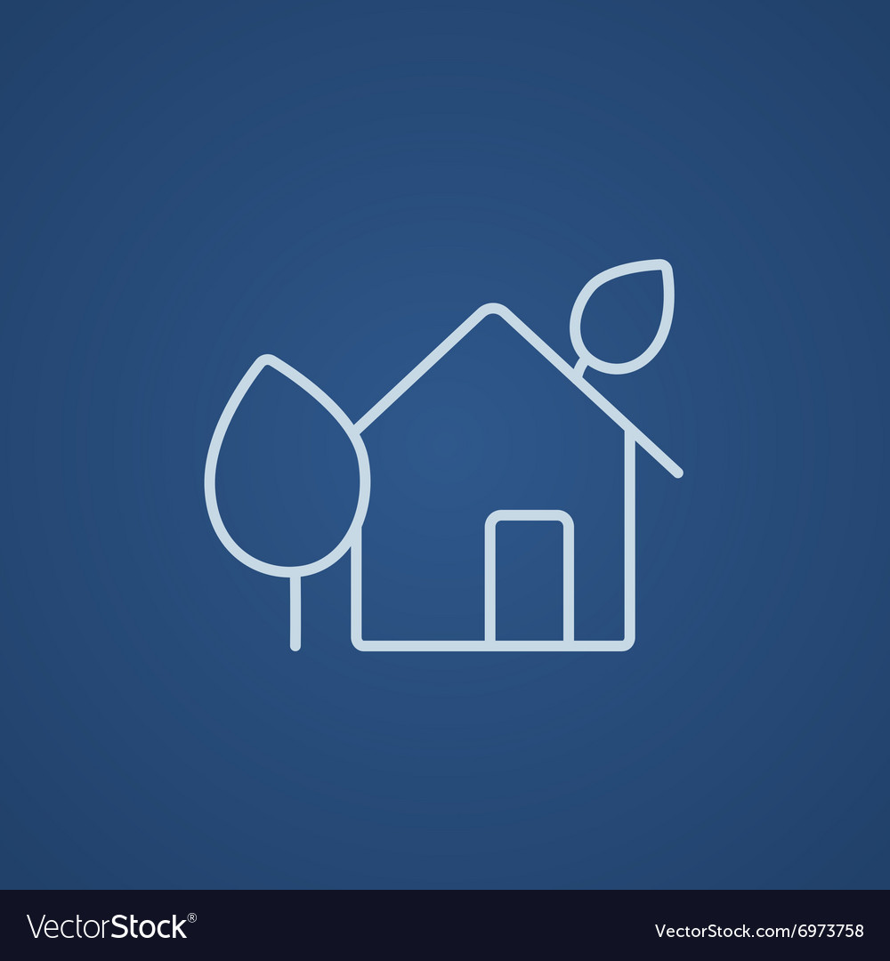 Ecofriendly house line icon vector