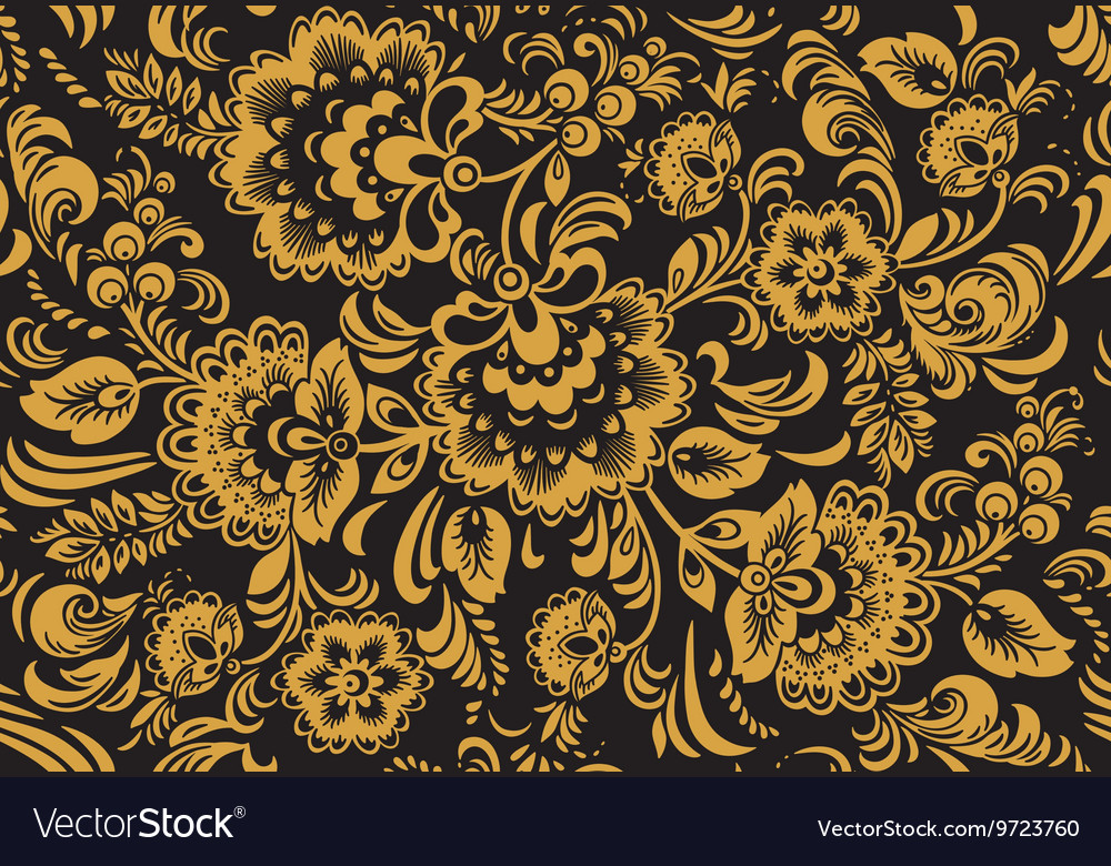 Seamless pattern in traditional russian vector