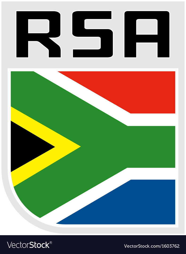 Flag of republic of south africa icon vector