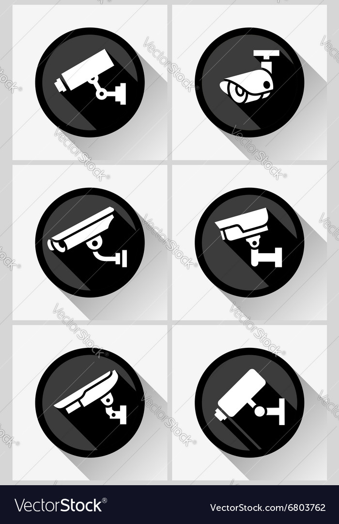 Video surveillance set vector