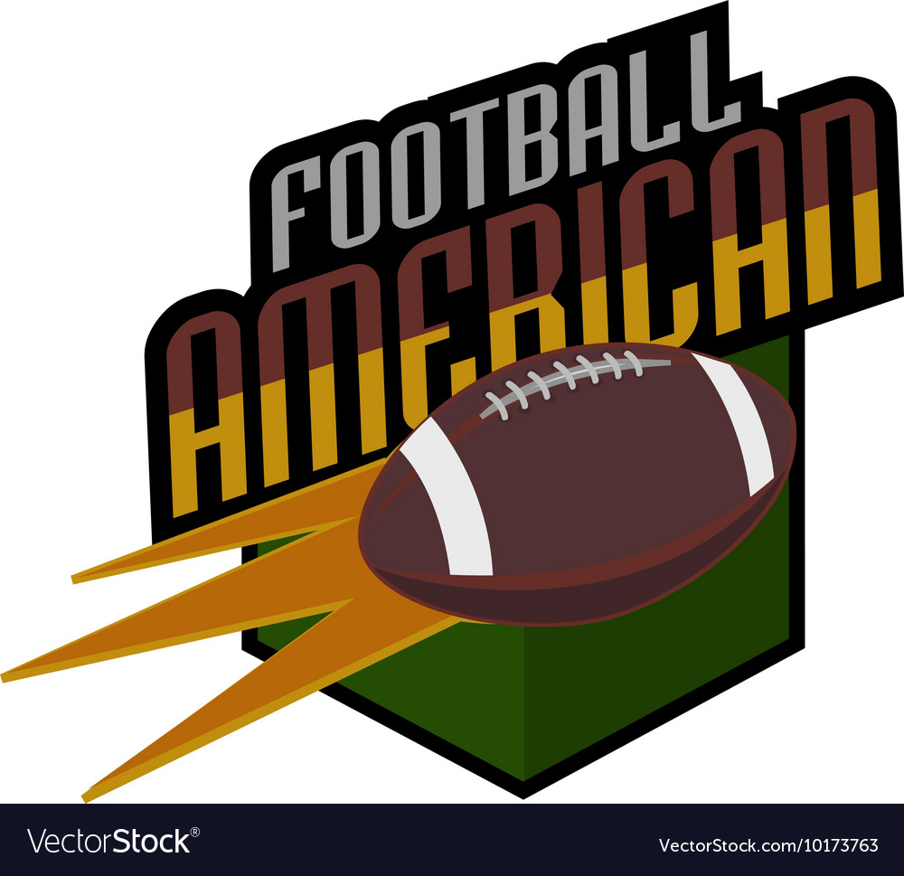 American football logos retro vector