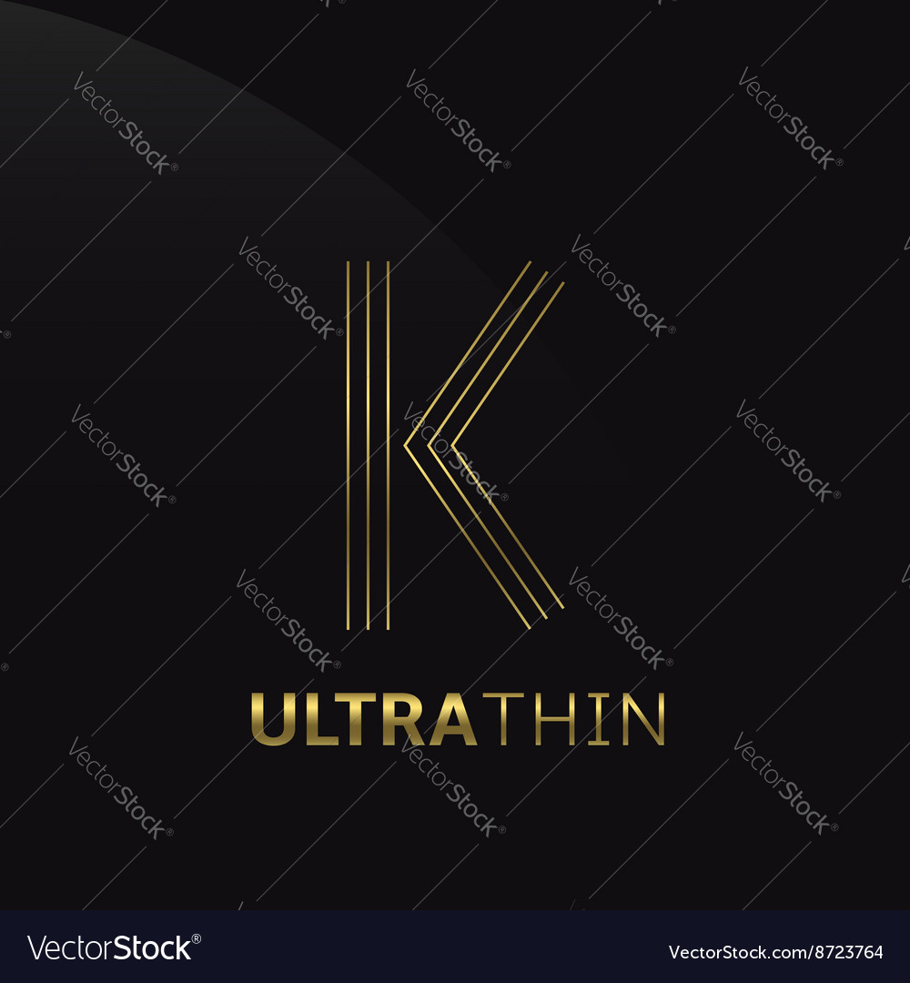 Ultrathin k letter vector