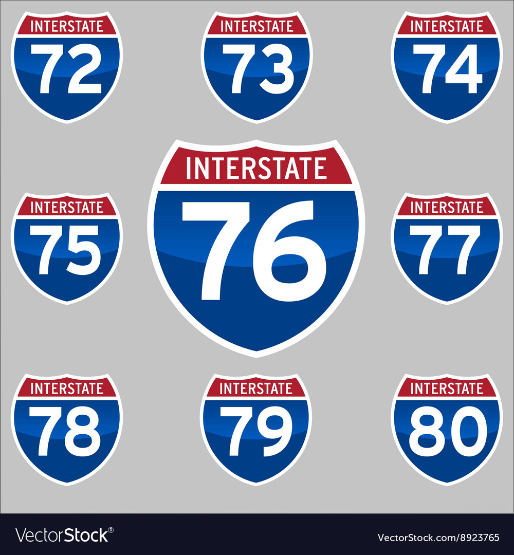 Interstate sings 7280 vector