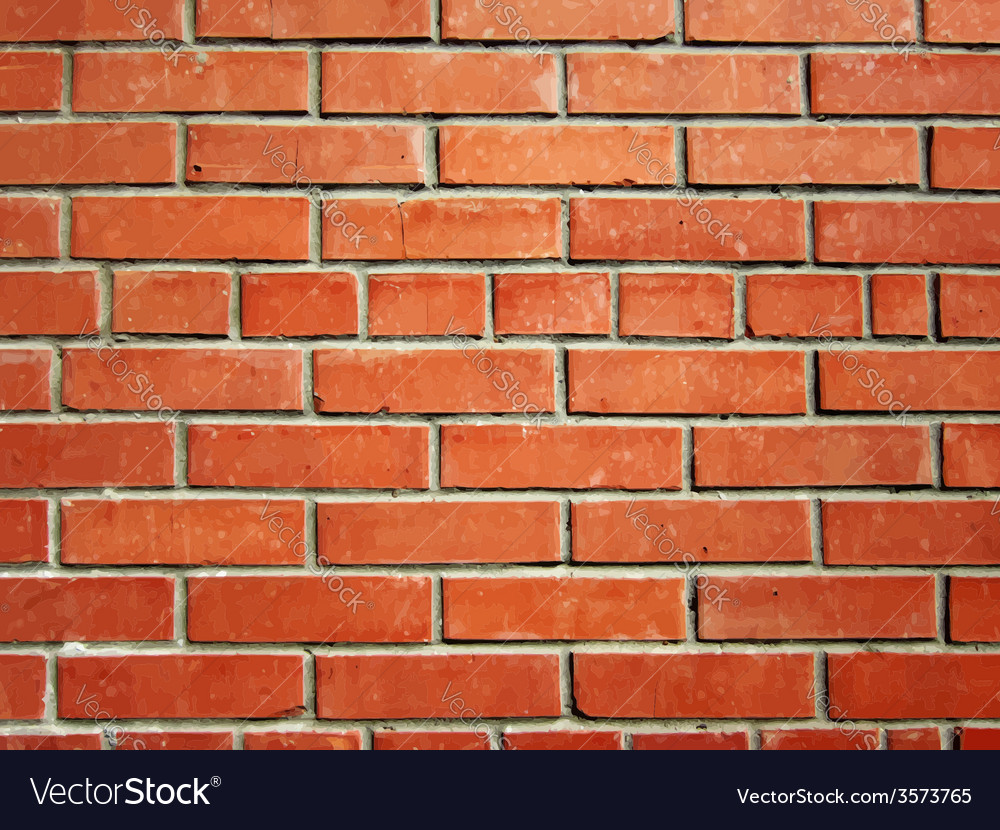 Realistic bick wall vector