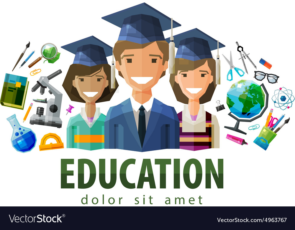 Education schooling logo design template vector