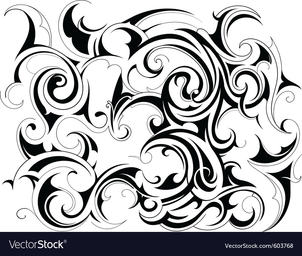 Tattoo ink background vector