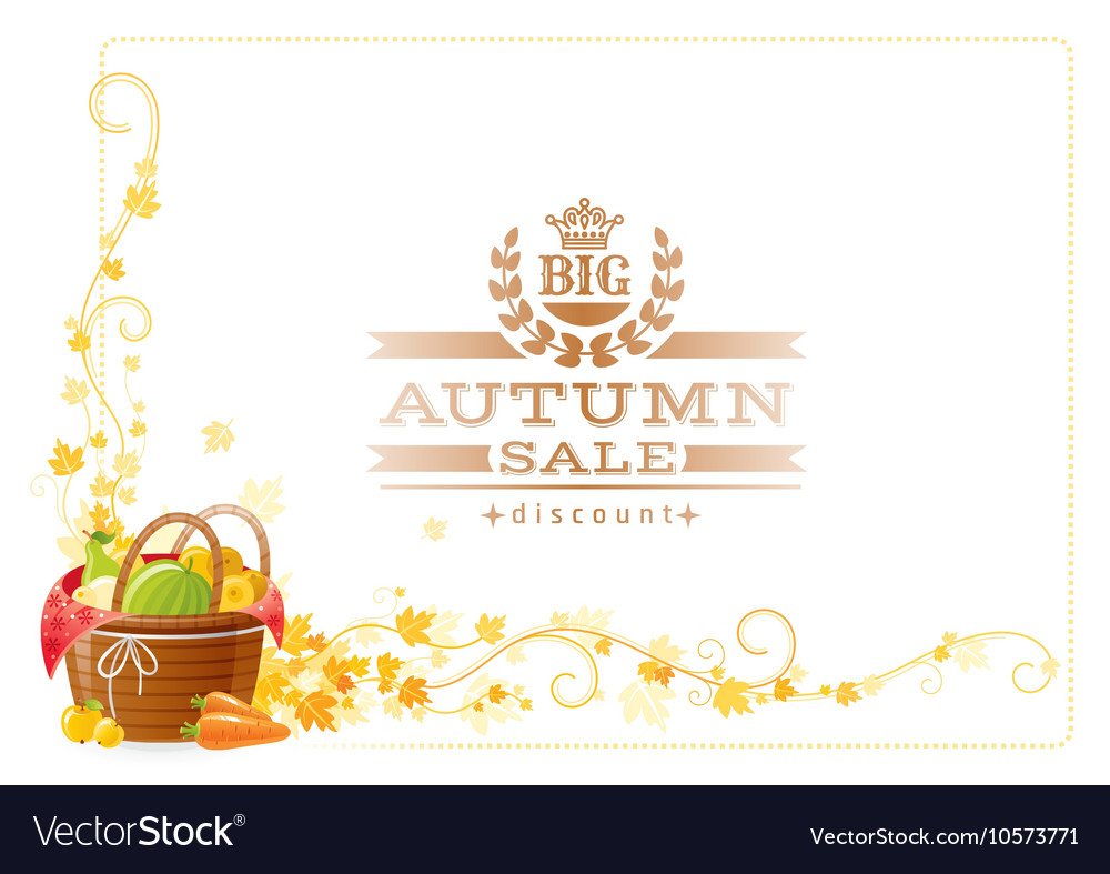 Autumn thanksgiving background with text vector