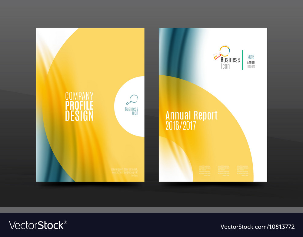 A4 size annual report business flyer cover vector