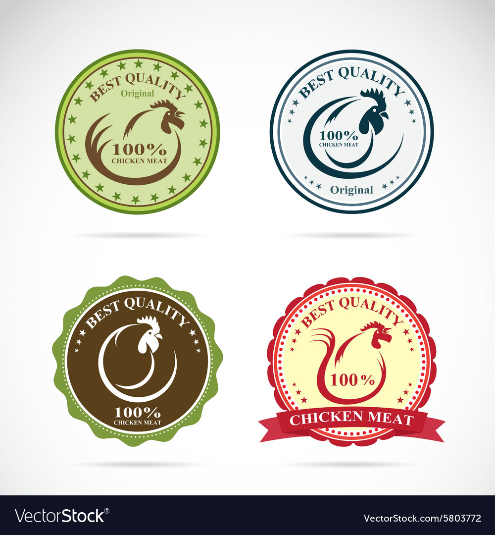Chicken label vector