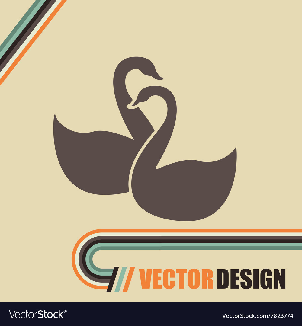 Swan isolated design vector