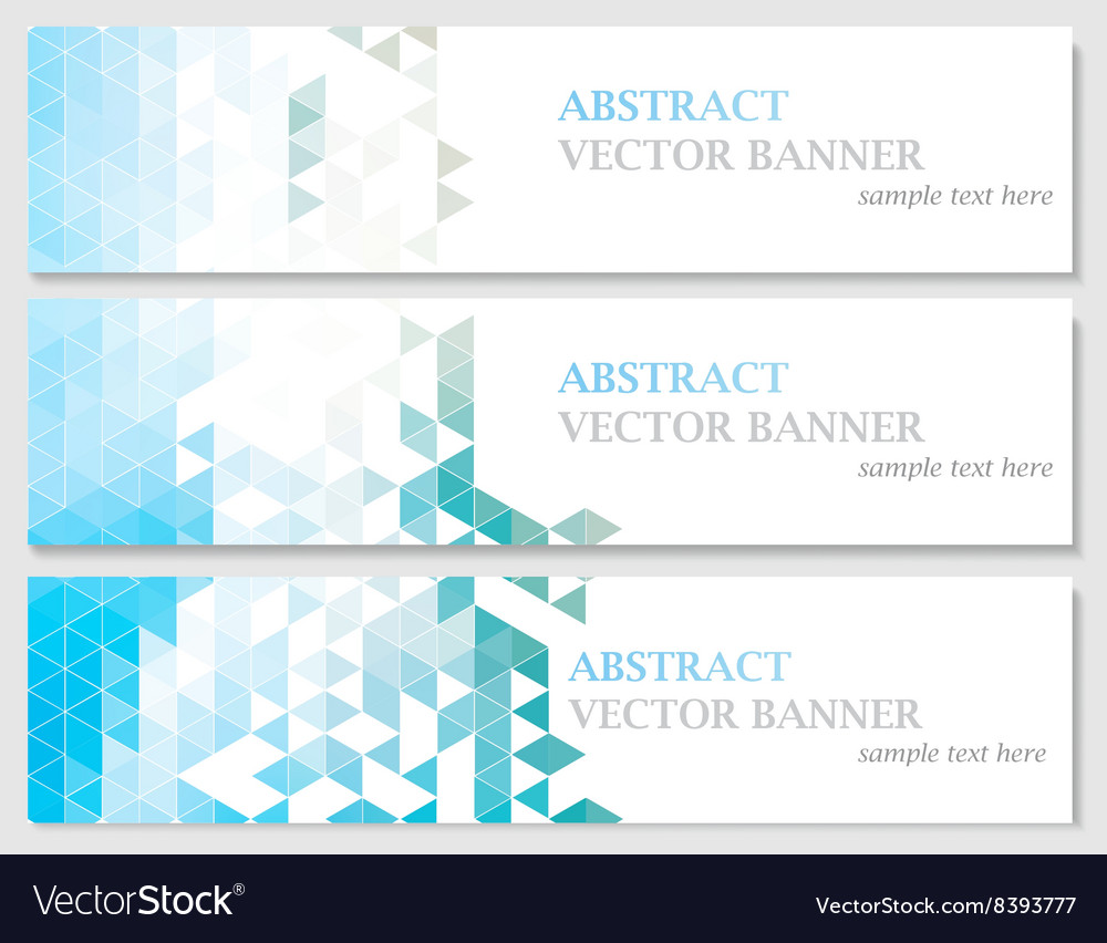 Banners with abstract multicolored vector