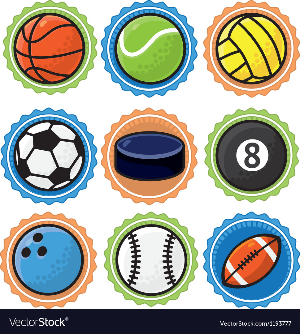 Set with sport balls  cartoon vector
