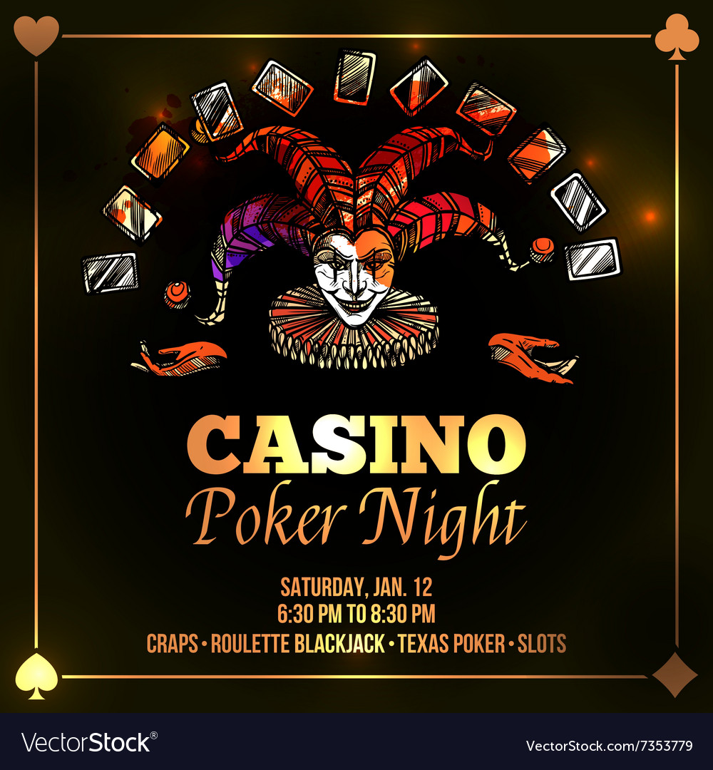 Joker poker vector