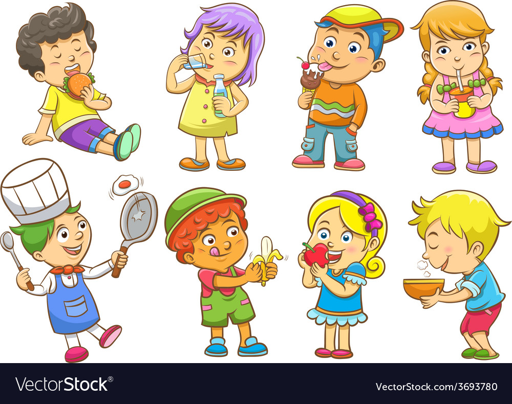 Set of child activities routines vector