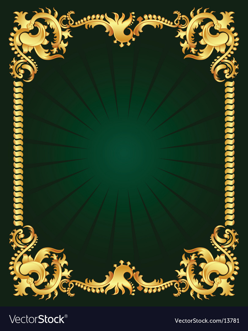 Gold ornament vector