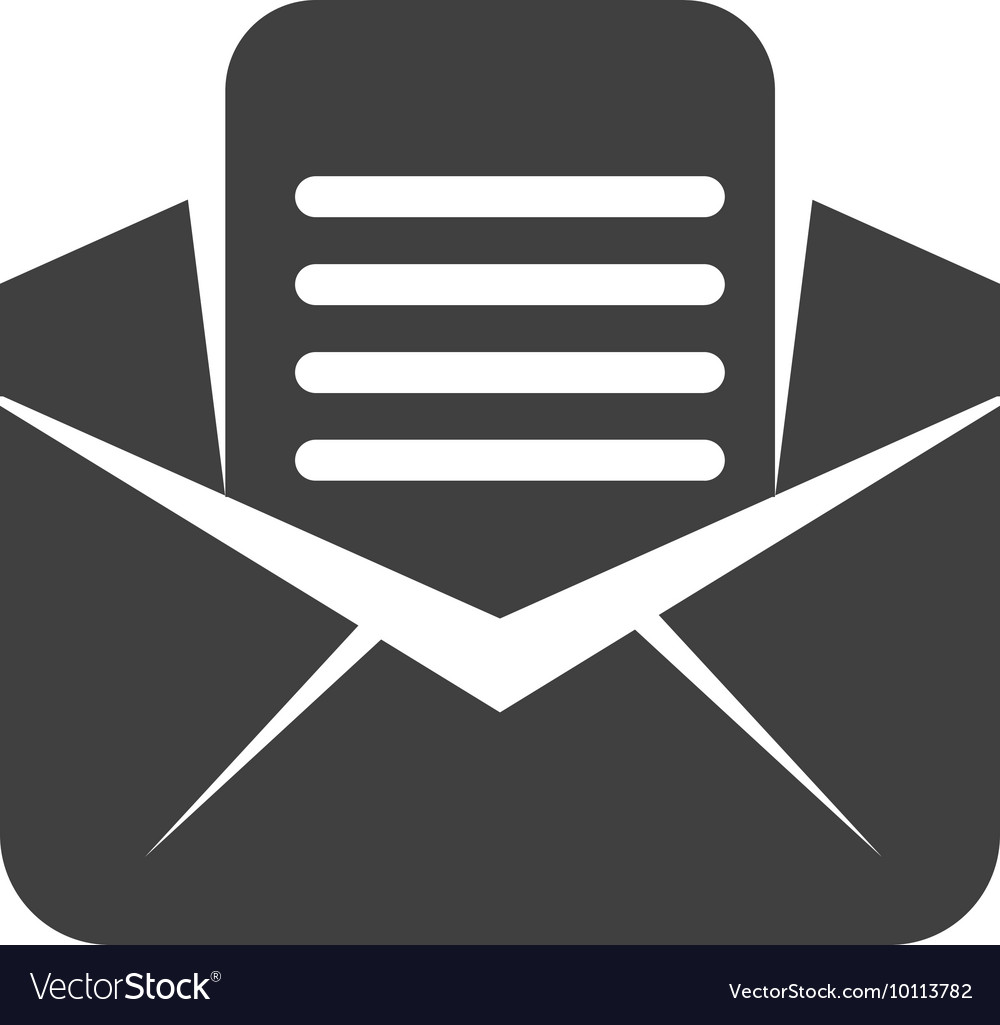 Envelope email message communication icon vector