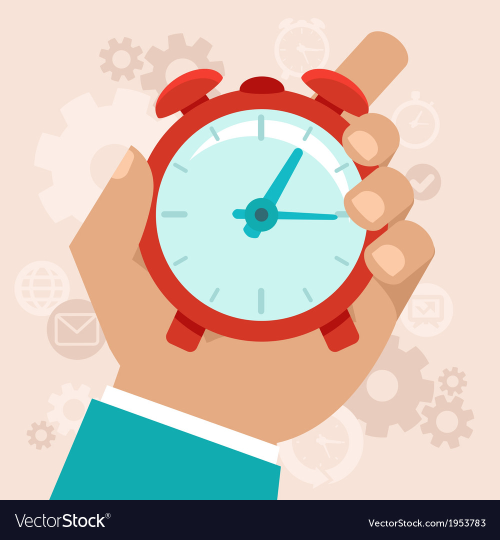 Time managamement vector