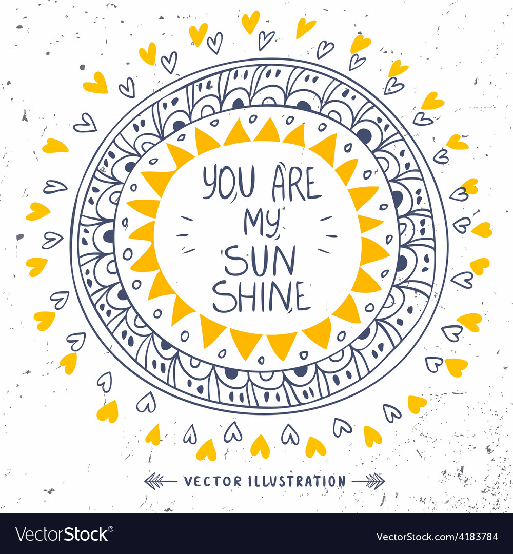 My sunshine vector