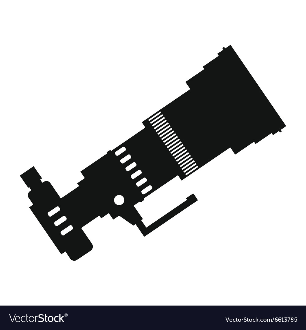 Professional camera simple icon vector