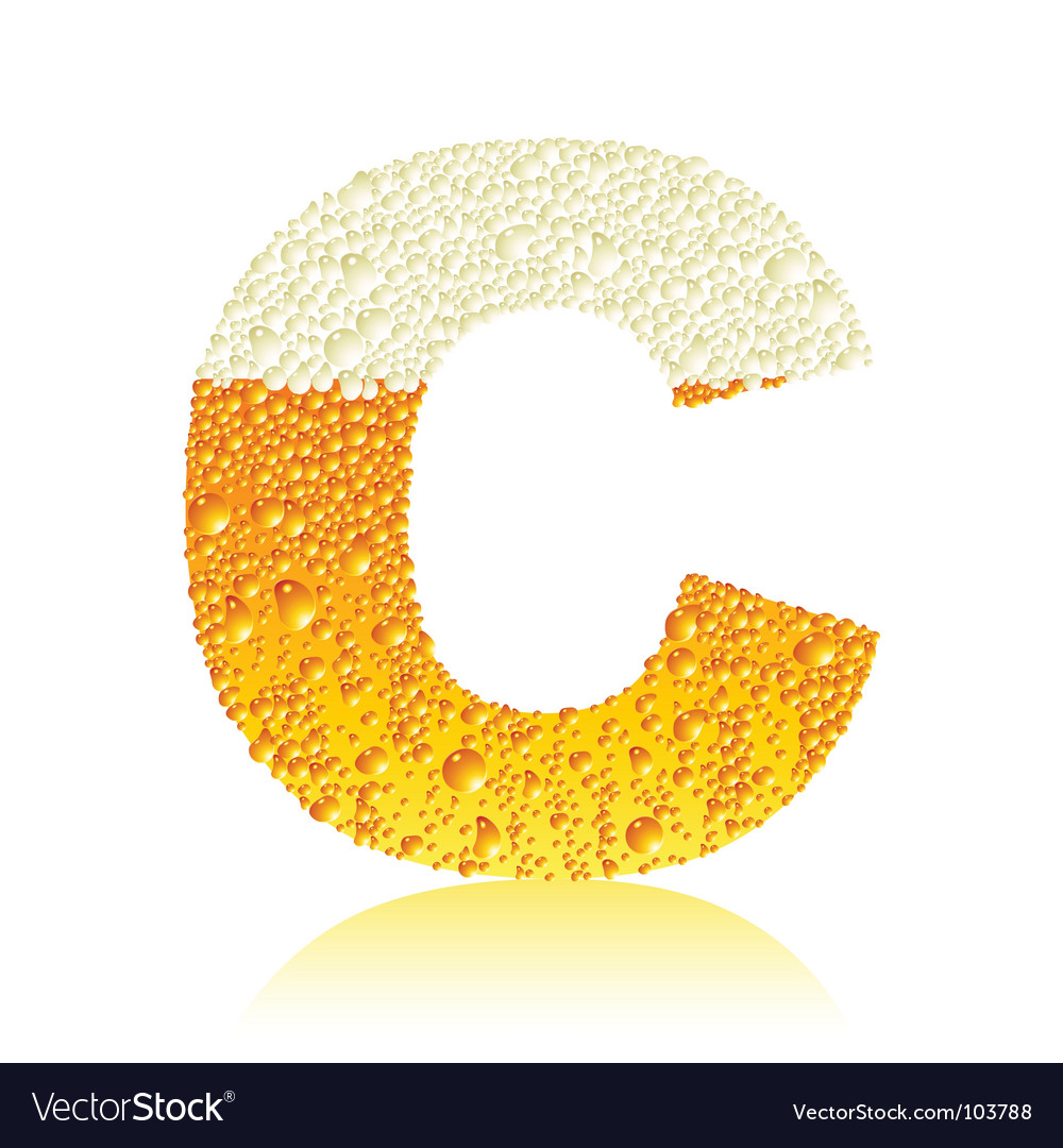 Alphabet beer c vector