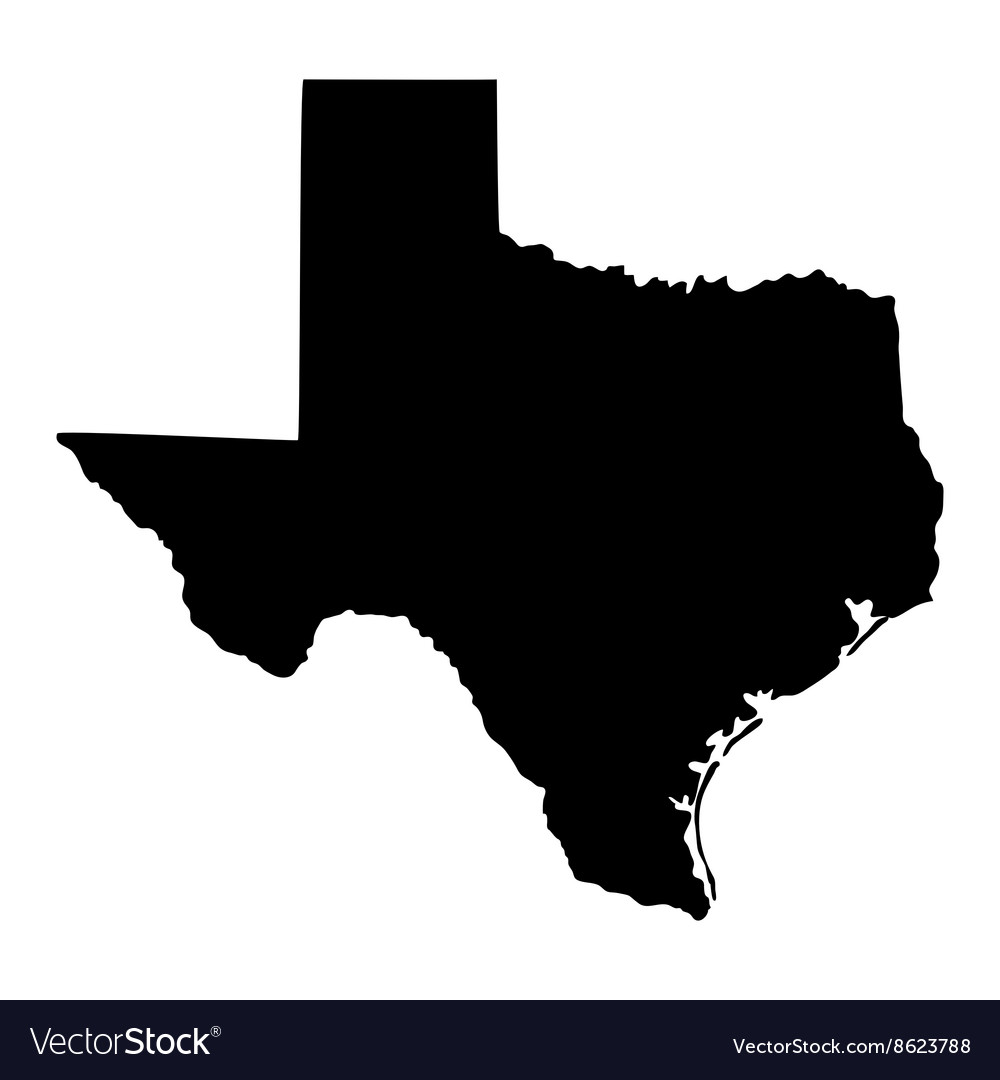 Map of the us state of texas vector