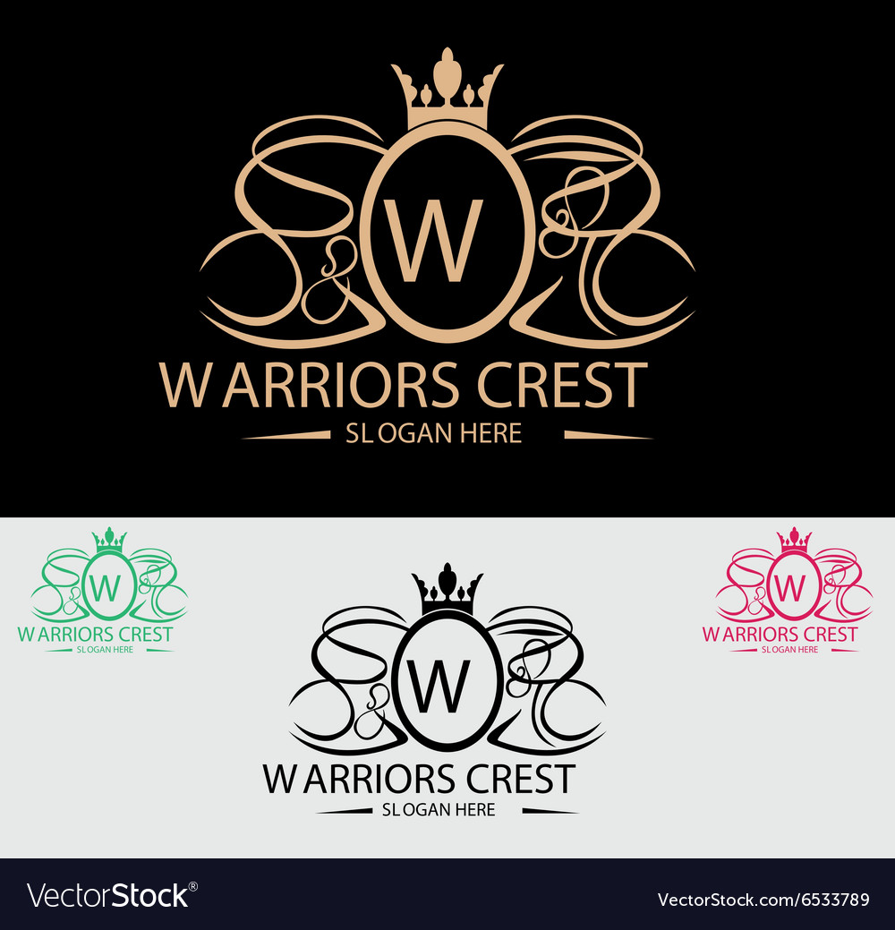 Warriors crest logo vector