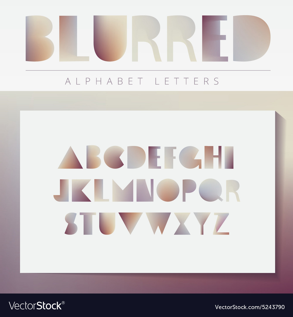 Blurred alphabet set vector