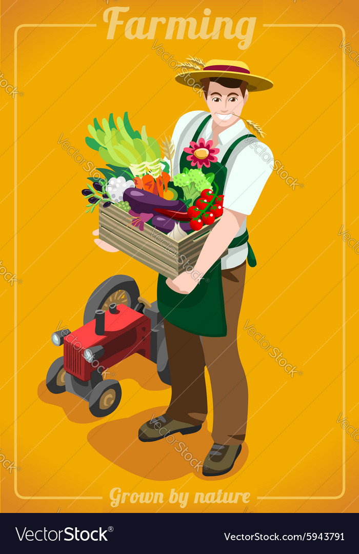 Farm services people isometric vector