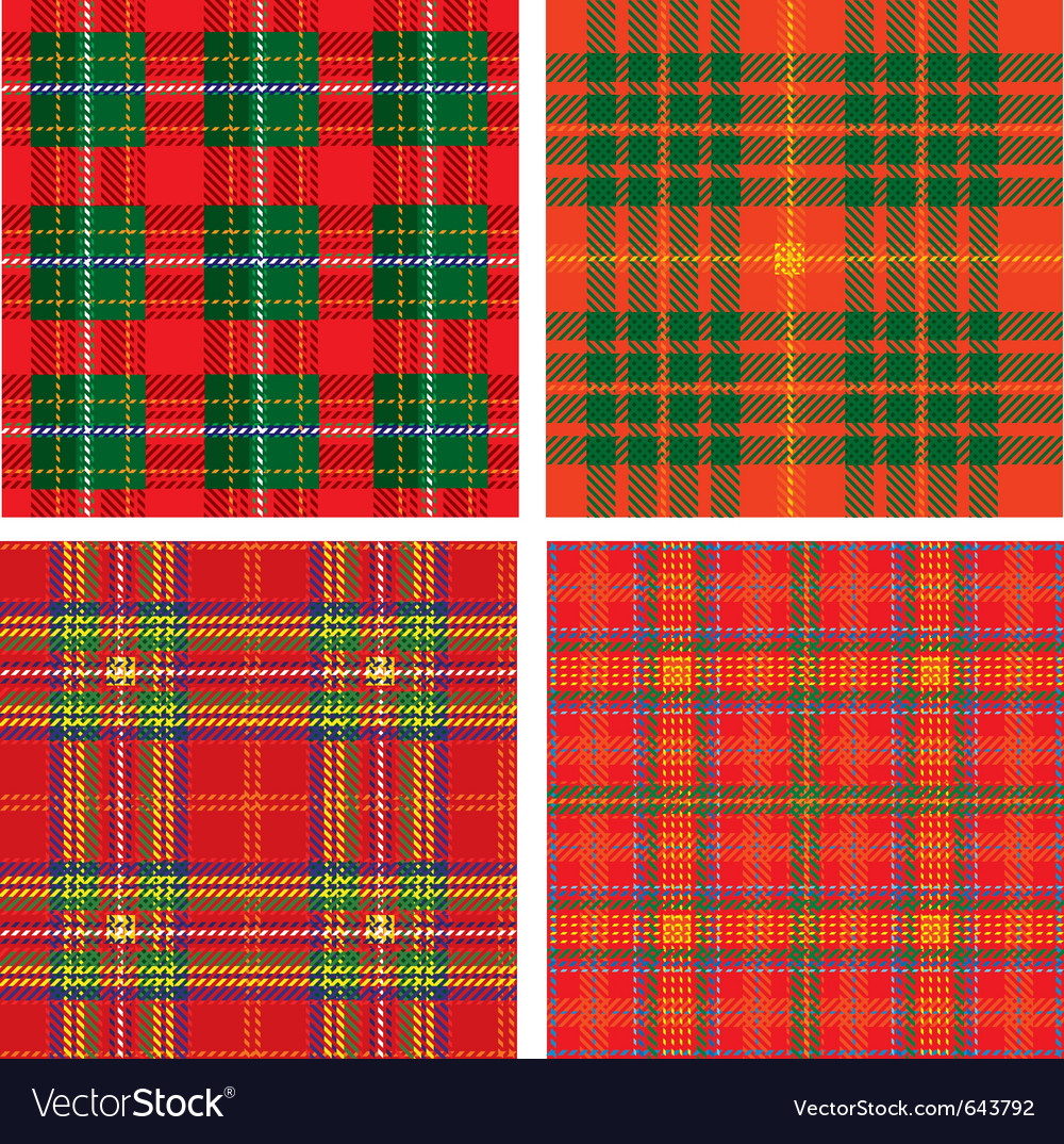Seamless tartan plaid vector
