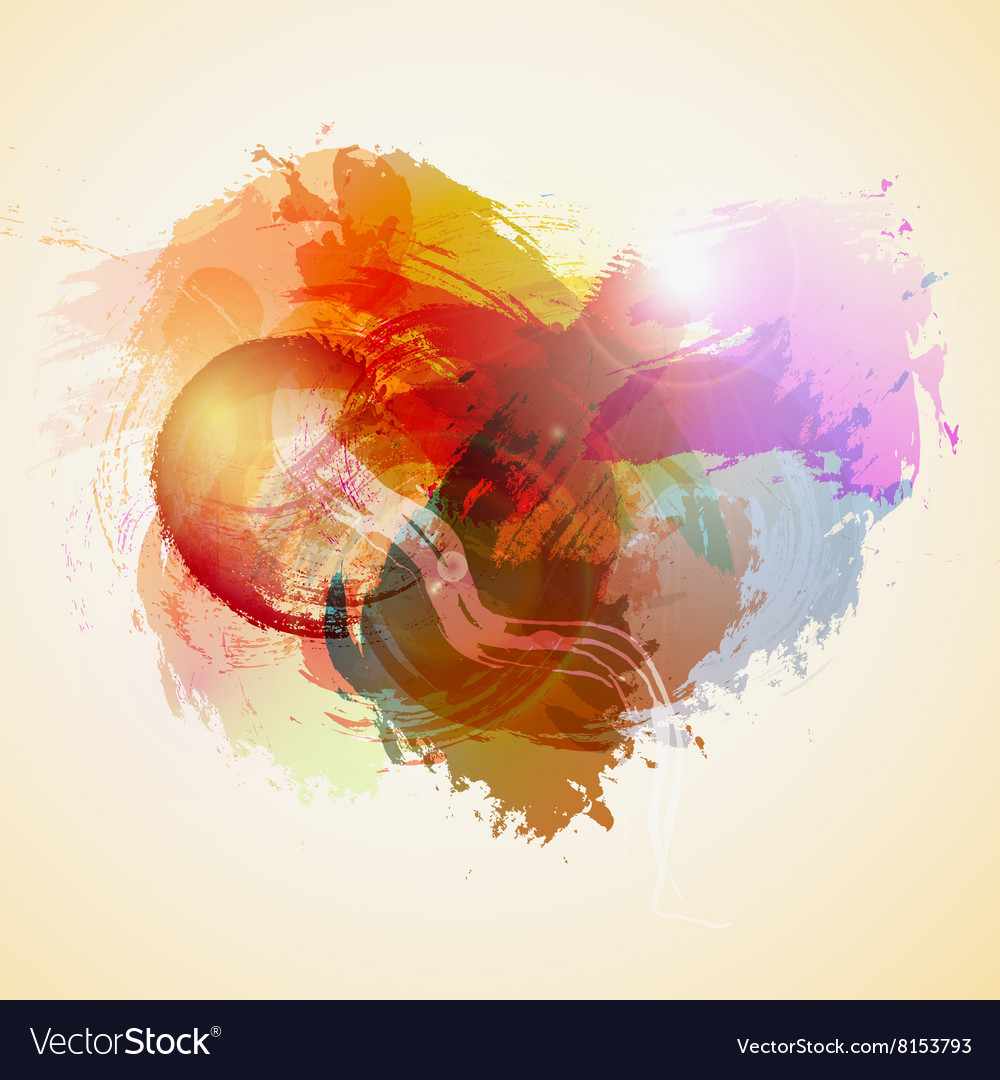 Abstract watercolor heart vector