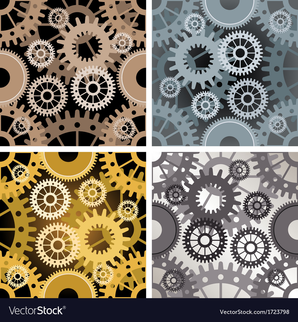 Seamles gear pattern vector