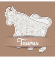 Background with zodiac sign Taurus vector image vector image