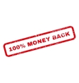 100 Percent Money Back Text Rubber Stamp vector image