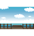 A wooden bench and water vector image vector image