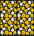 yellow apple fruit seamless pattern for fabric vector image