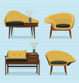 interior sofa design vector image
