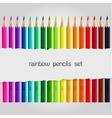 Big color pencil set vector image