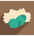 Flat with shadow icon and mobile application pine vector image