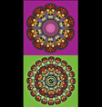 robotic skulls circle design vector image