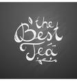 best tea text vector image