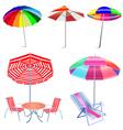 Beach Umbrellas vector image