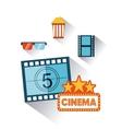 cinema entertainment set flat icons vector image