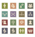 community icon set vector image