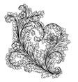 decorative stylized heart vector image