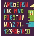 Funny alphabet letters with numbers vector image