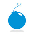 icon of a bomb for website or mobile application vector image