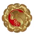 medallion monkey symbol of the year vector image