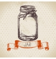 Rustic mason and canning jar vector image