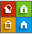 set of 4 house icons vector image